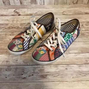 Coach daphne patchwork sneakers